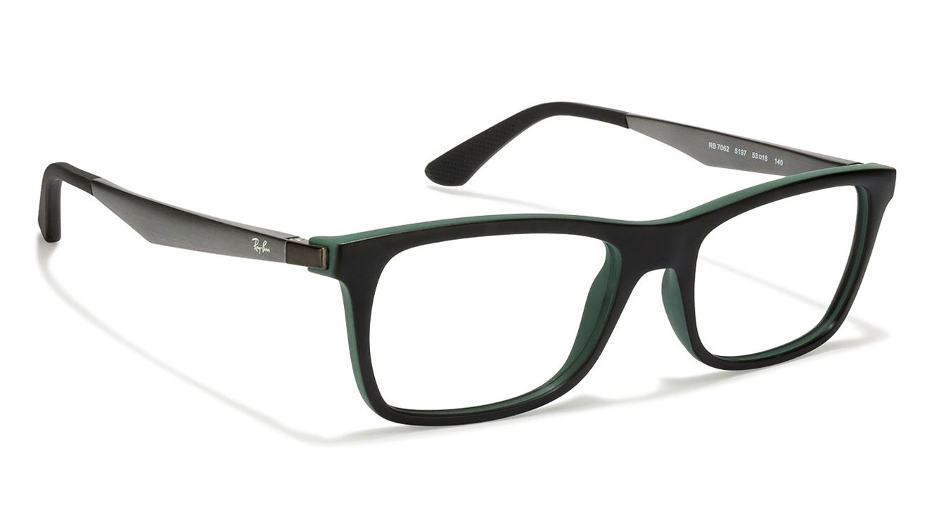 55aec5c4976 Ray-Ban RX7062 Size 53 Matte Black Green Grey Black 5197 Eyeglasses at www