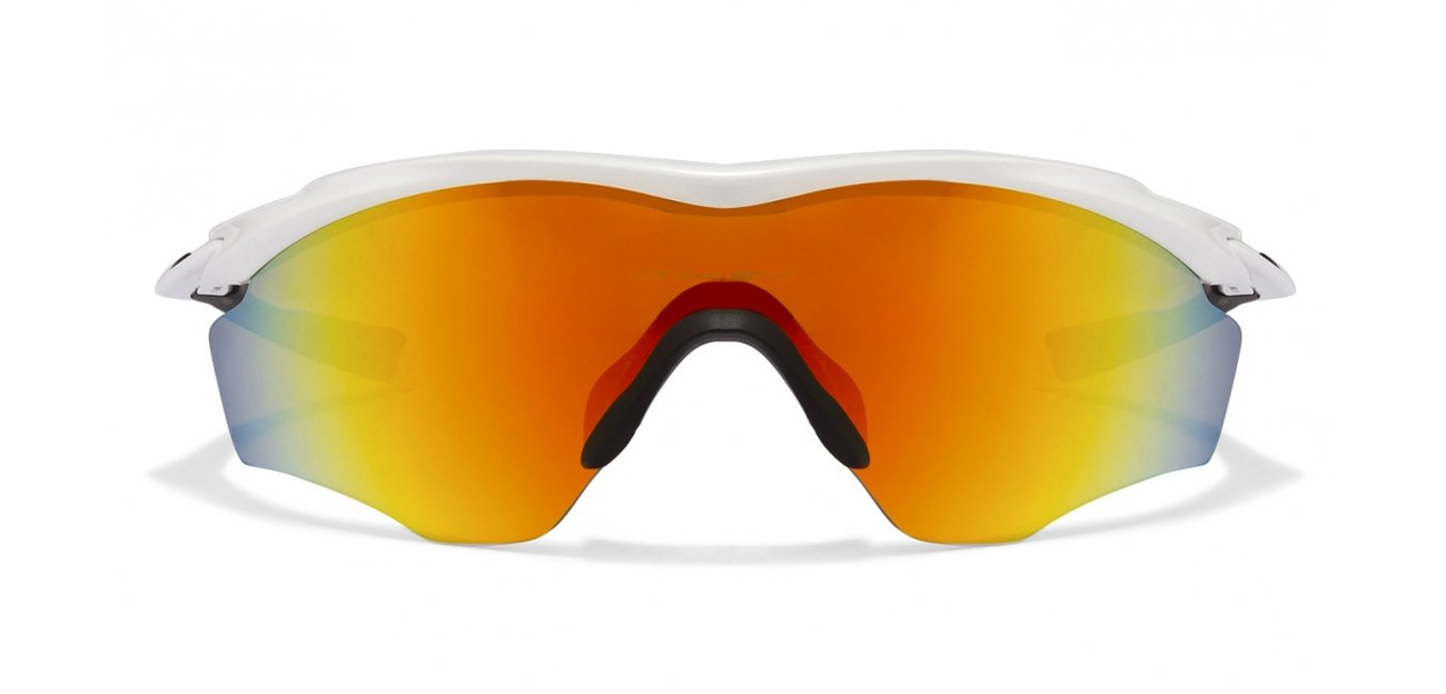 Oakley M2 Frame XL OO9343 Size:45 White Black Red Yellow Mirror 05 Sports Men's Sunglasses