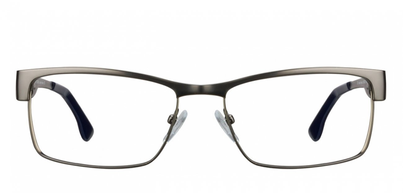 BUY 2 IN 2500 : Vincent Chase Vagabond VC 6305 Matte Gunmetal Blue 0000 Eyeglasses