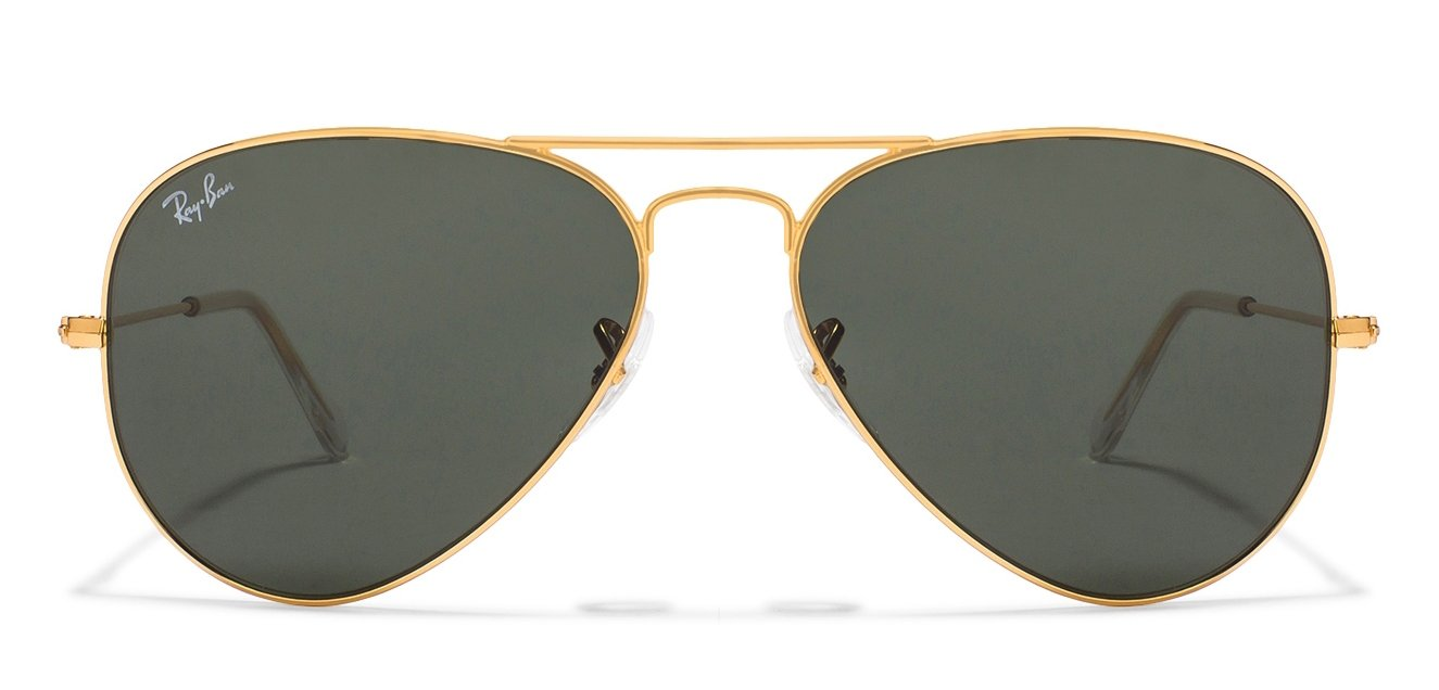 Ray Ban Sunglasses Aviators  ray ban rb3025 l0205 size 58 golden green aviator men s sunglasses