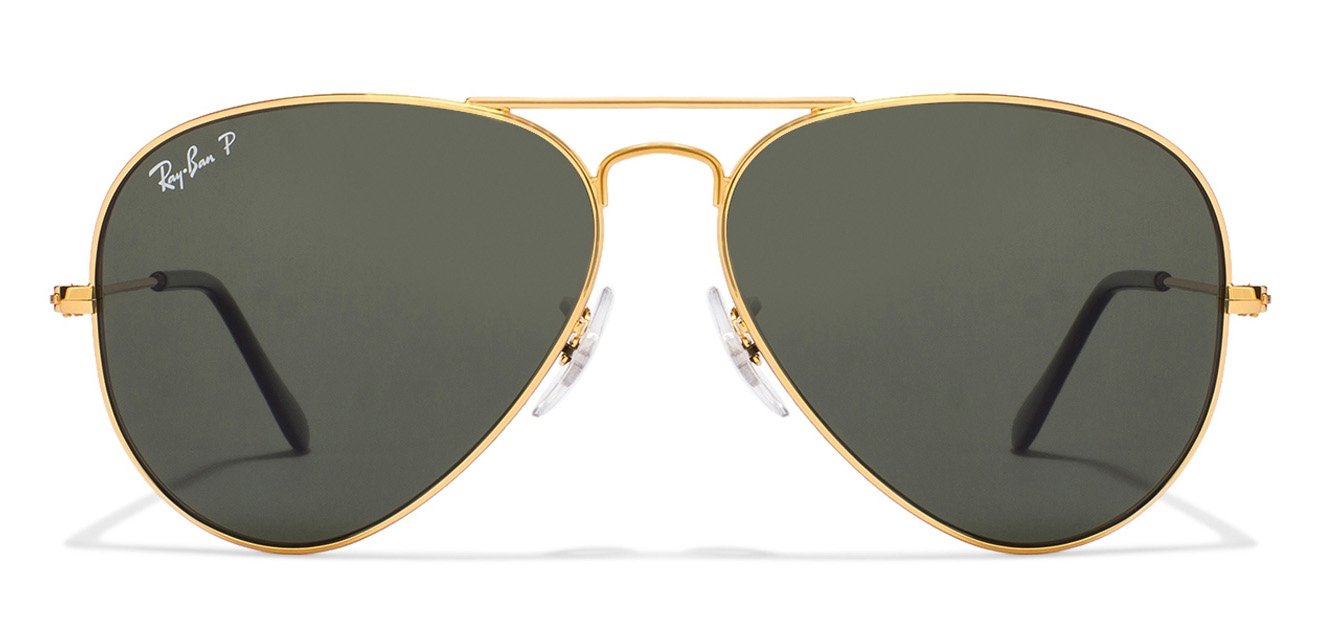 ray ban aviator rb3025 large metal  Ray-Ban RB3025 001/58 Size:58 Golden Natural Green Polarized ...