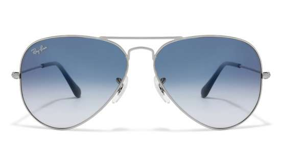 aviators glasses kmm7  Ray-Ban RB3025 003/3F Size:58 Silver Blue Gradient Aviator Men's Sunglasses
