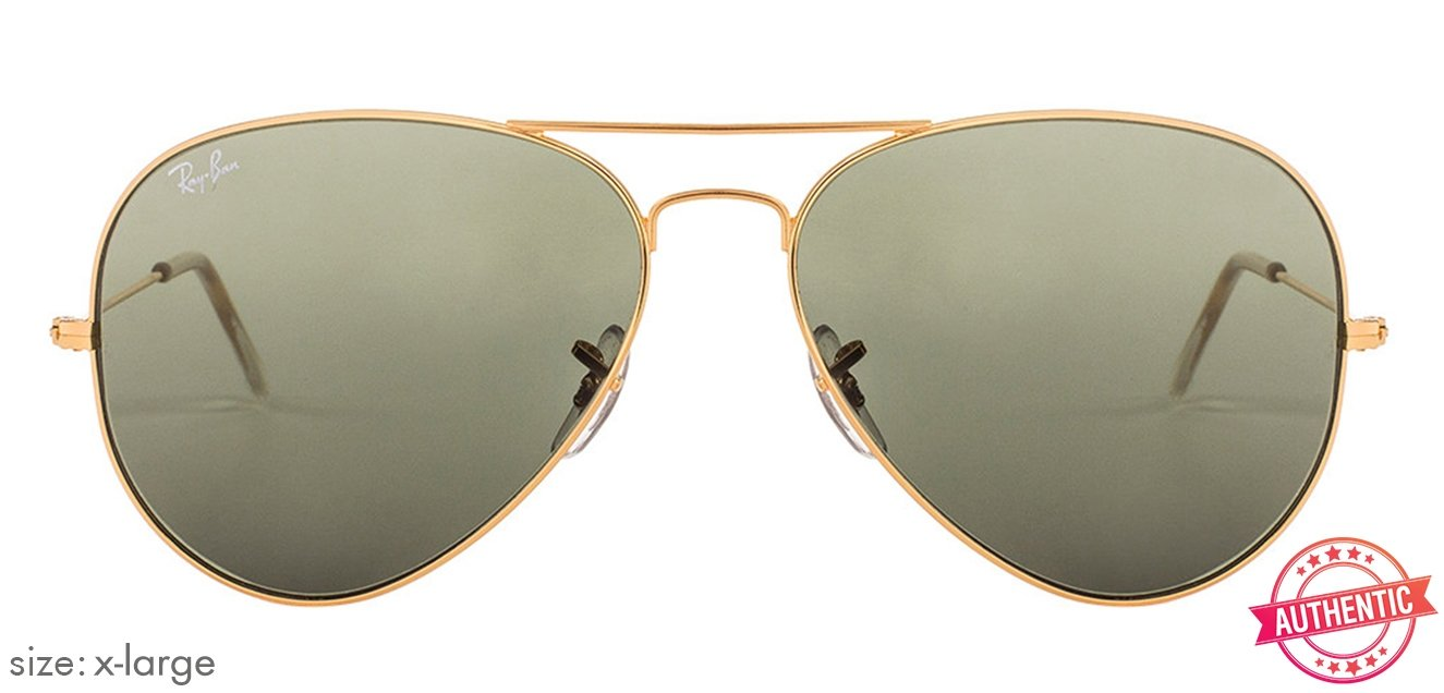 79aab31e7f4 Ray-Ban RB3026-62 X-Large (Size-62) Golden Green Unisex Sunglasses