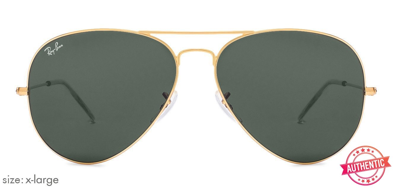 7bb7737331 Ray-Ban RB3026 X-Large (Size-62) Golden Green Unisex w2027 Sunglasses