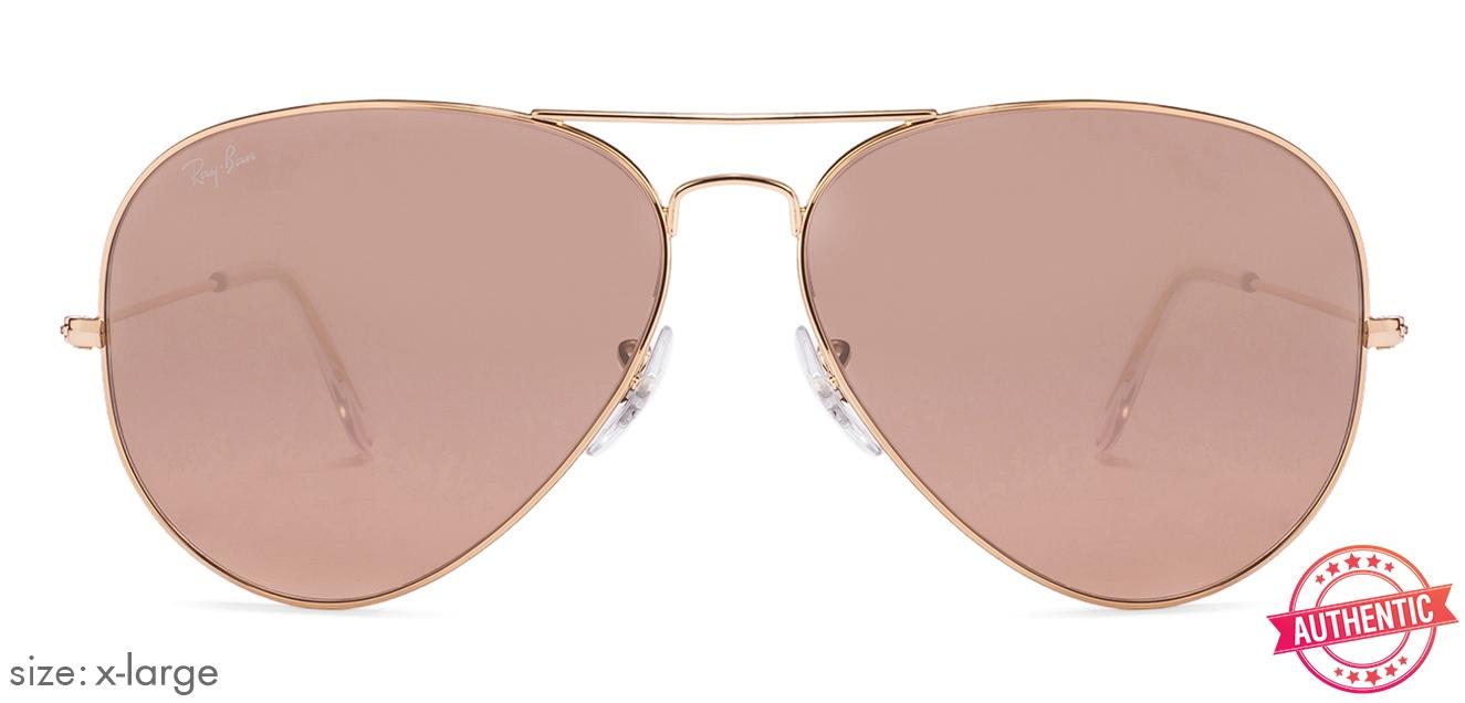 c1c6b2de0b Ray-Ban RB3025 X-Large (Size-62) Golden Brown Unisex 001 Sunglasses