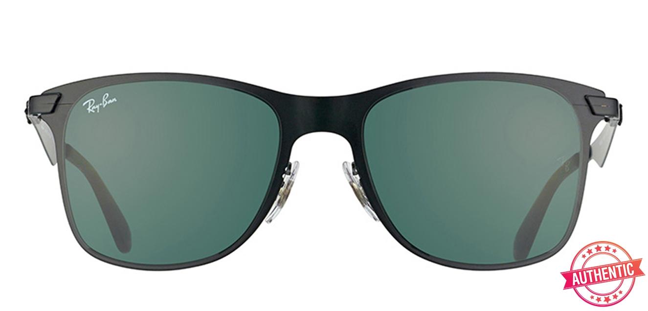 90bd39b825e1 Ray-Ban 0RB3521 Small (Size-52) Matte Black Green Unisex 52 Sunglasses