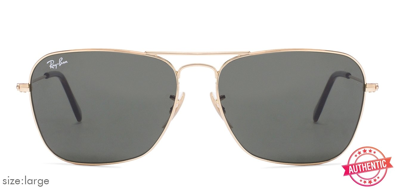 a5630946229 Buy Ray-Ban RB3136 Large (Size-58) Golden Green 181 Unisex Sunglasses