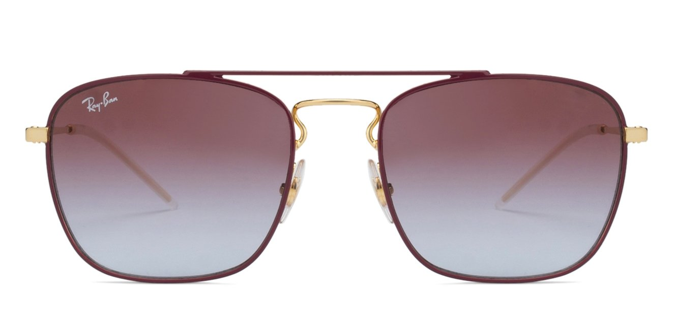 6ad0b32bb62 Ray-Ban RB3588 Small (Size-55) Pink Golden Grey Gradient 9060I8 Unisex  Sunglasses