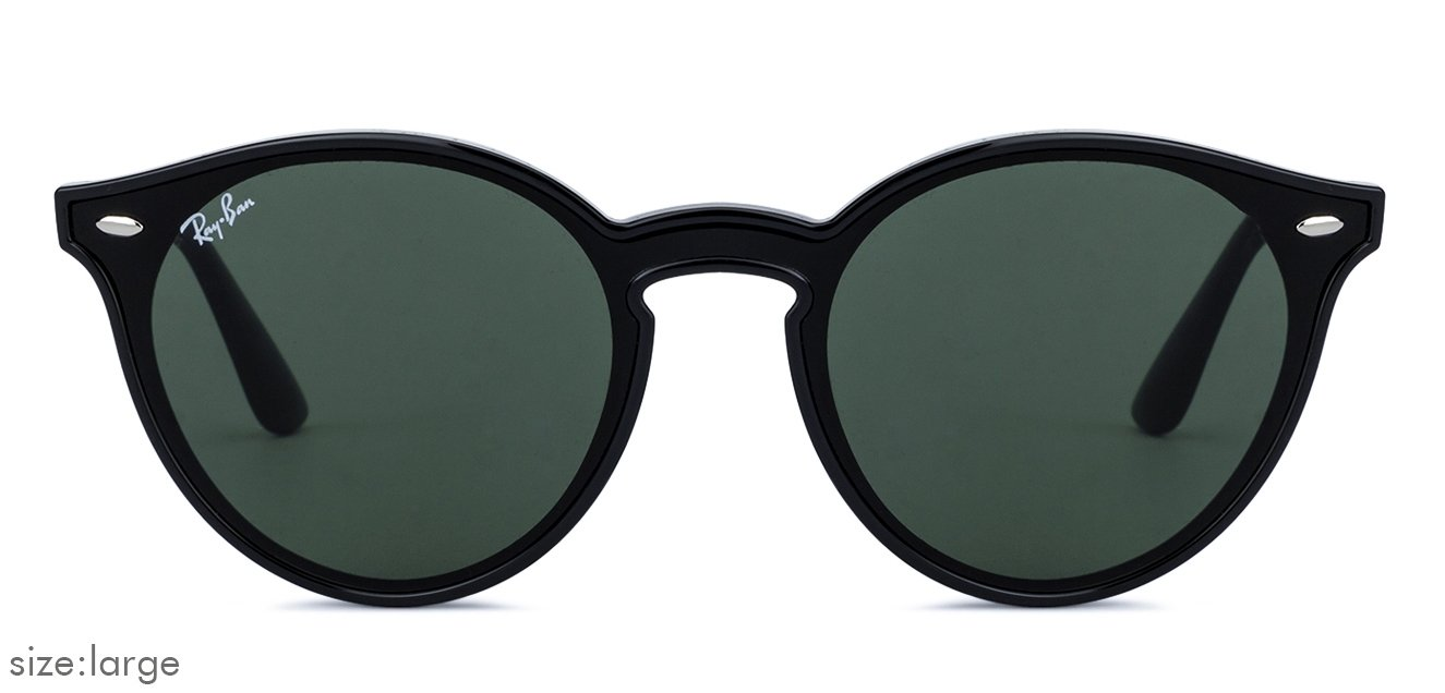 bd15b8526e Ray-Ban RB4380N Large (Size-56) Black Green 601 71 Unisex Polycarbonate  Sunglasses
