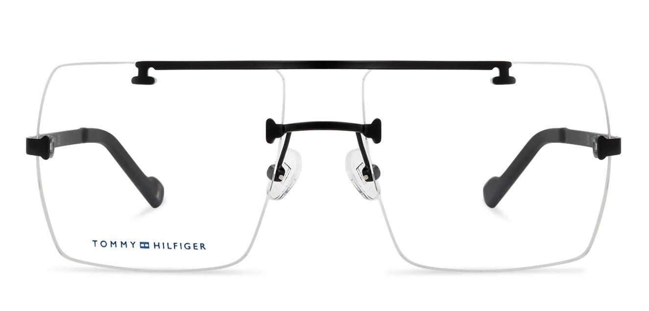 0e5f36325cec Tommy Hilfiger TH6185 Large (Size-56) Black C5 Unisex Eyeglasses ...