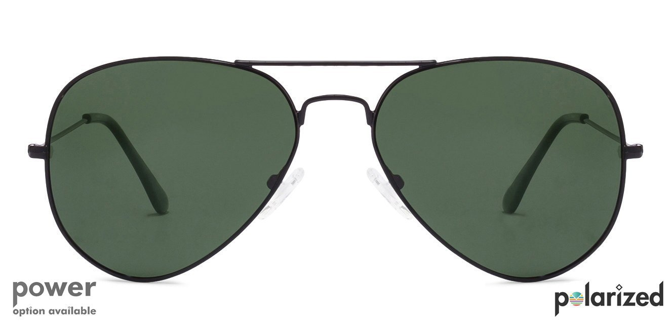 Black Green Full Rim Aviator Shape Medium Large Size 58 Vincent Small Summer New Retro Sunglasses Image Front