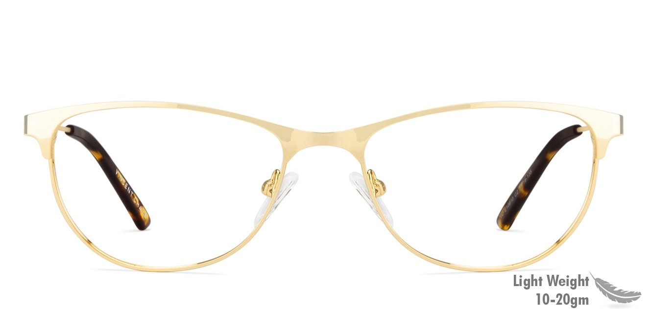 89bcb6f582e Golden Tortoise Full Rim Cat Eye Medium (Size-51) Vincent Chase STEEL  ESCOBAR VC E10810 - C2 Eyeglasses