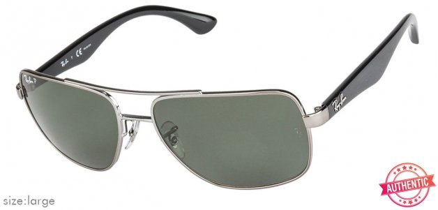 0d9389b339 Shop online for Ray-Ban RB3483 Large (Size-60) Gunmetal Grey 4 Unisex  Sunglasses