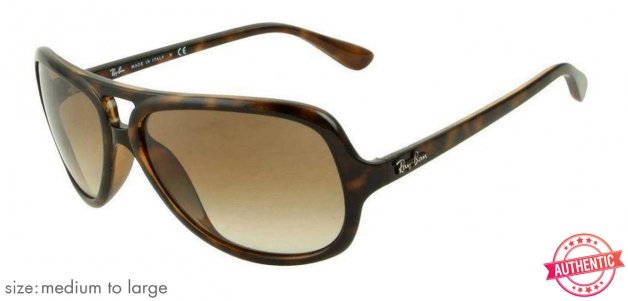 8d60fb1c2a5b0 ... clearance shop online for ray ban rb4162 medium large size 59 tortoise  brown gradient 710 51