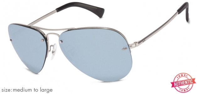 43ce0c7cfb Shop online for Ray-Ban RB3449 Medium-Large (Size-59) Silver Mirror 003 30  Unisex Sunglasses