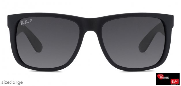 bc83bbbae2 Ray-Ban RB4165 Large (Size-55) Matte Black Grey Gradient 622 T3 Unisex Polarized  Sunglasses