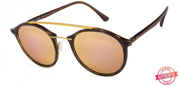 cfb459a61e6 Ray-Ban RB4266 Small (Size-49) Golden Tortoise Yellow Pink Mirror 710 2Y  Women Sunglasses