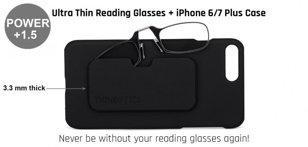 ThinOptics Reading Glasses With Iphone Cover