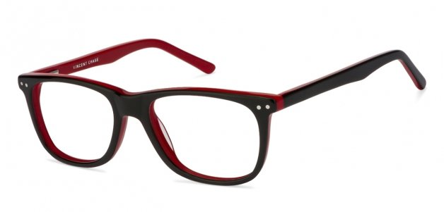 6abece6488 Shop online for Black Red Full Rim Wayfarer Shape Small (Size-50) Vincent  Chase VAGABOND VC 1478-C26 Eyeglasses